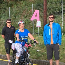 Thank you to the smiles that rode 52 miles from Sandra!