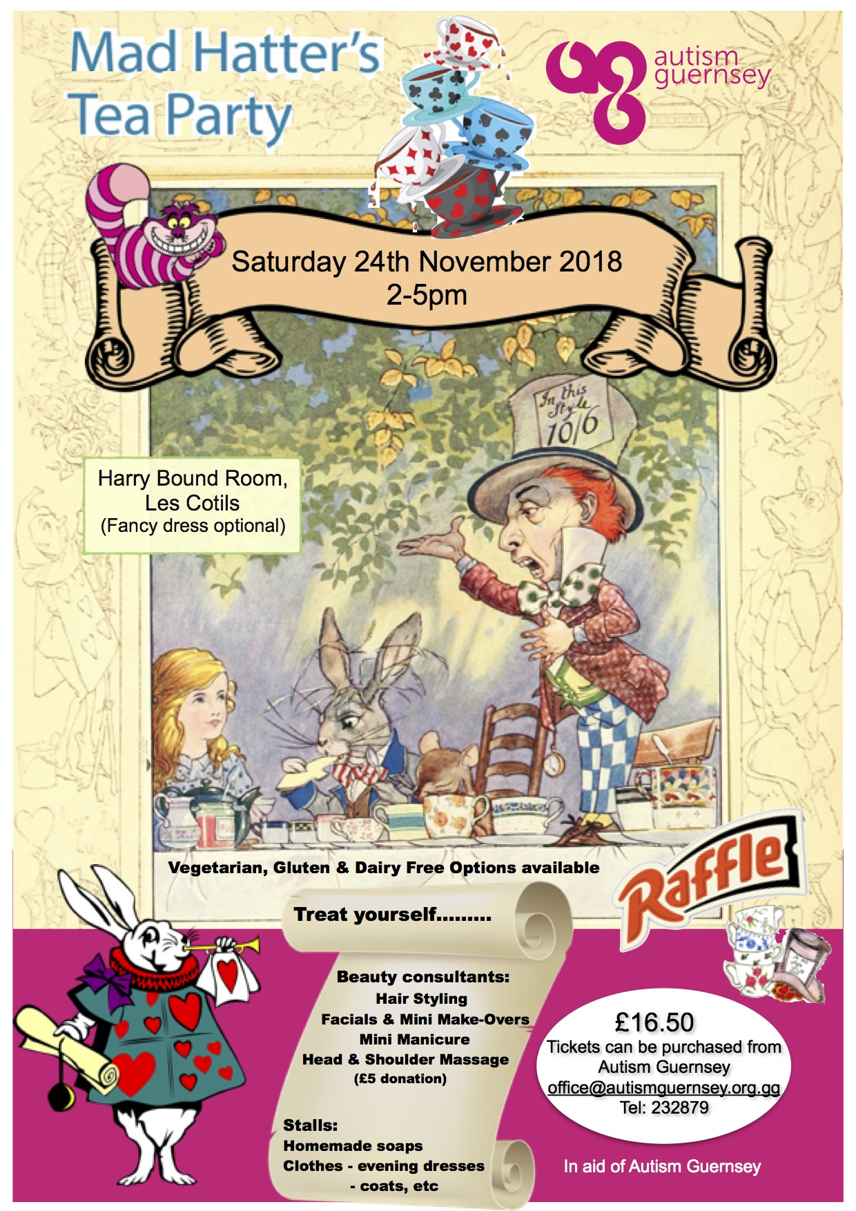 Mad Hatters Afternoon Tea Autism Guernsey